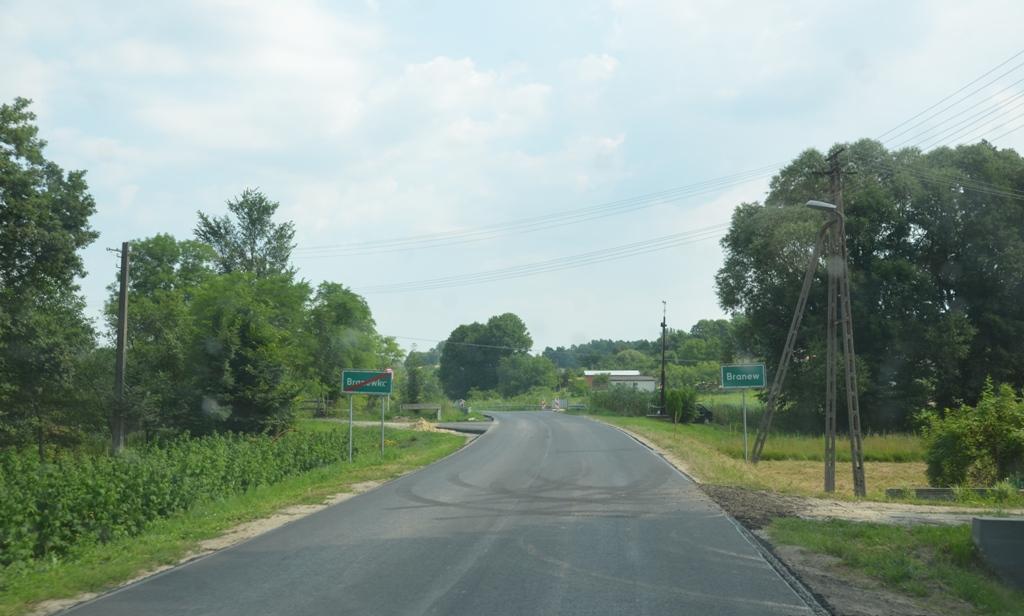 przebudowa drogi wmiejscowości Branew Szlachecka