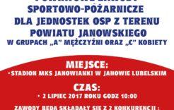 Więcej o: Zaproszenie na powiatowe zawody sportowo-pożarnicze