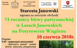 Więcej o: Zaproszenie naobchody 74 rocznicy bitwy partyzanckiej naPorytowym Wzgórzu