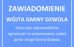 Więcej o: Ogłoszenie Wójta Gminy Dzwola